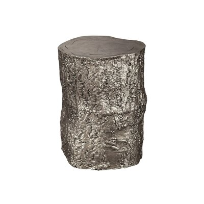 Nickel Tree Trunk Accent Stool