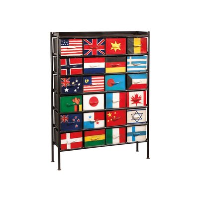 Flag Bunting 24 Drawer Accent Chest