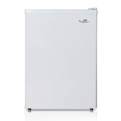 2.4 cu. ft. Compact Refrigerator with Freezer Color: White