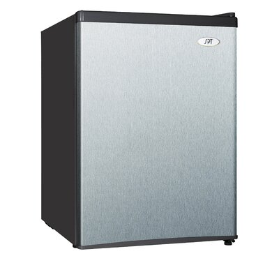 2.4 cu. ft. Compact Refrigerator with Freezer Color: Stainless Steel / Black