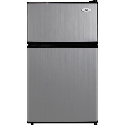 3.1 cu. ft. Compact Refrigerator with Freezer Color: Stainless Steel / Black