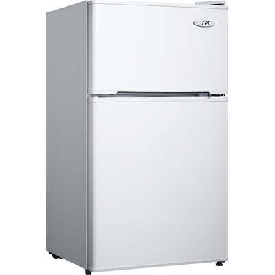 3.1 cu. ft. Compact Refrigerator with Freezer Color: White