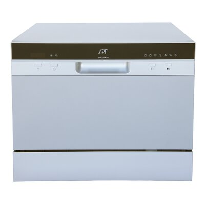 "22"" Countertop Dishwasher Finish: Stainless Steel"