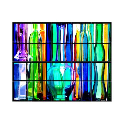 Glass Bottles Kitchen Tile Mural In Multi Colored Wayfair