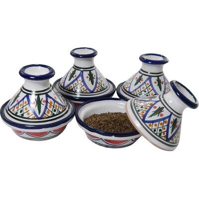Le Souk Ceramique Tabarka Design Mini Tagines Condiment Server