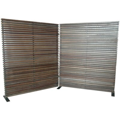 Shiela 2 Panel Room Divider Color: Brown