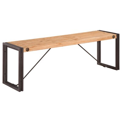 Burgess Wood Bench Size: Small