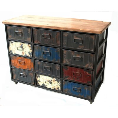 Moe's Home Collection Paintbox Large 12 Drawer Chest