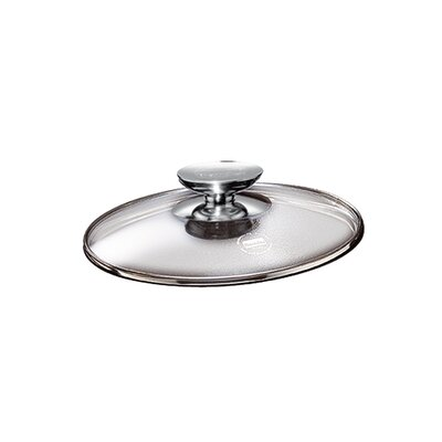 "Tricion 11"" Glass Lid with Stainless Lid Knob"