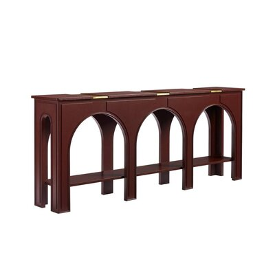"Havana Crossing Console Table Color: Masonic Red, Size: 33"" H x 80.38"" W x 14.25"" D"
