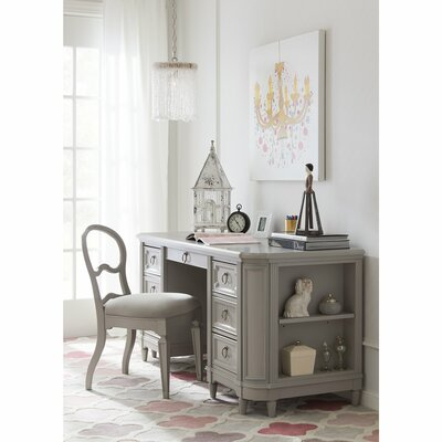 Clementine Court Credenza Desk and Chair Set