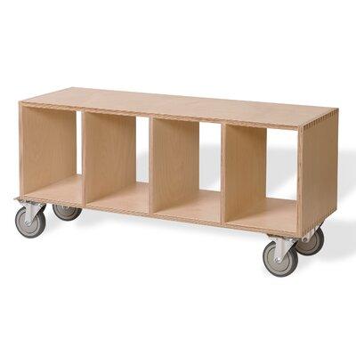 Birch Plywood Storage Bench Color: Birch