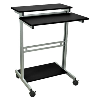 AV Cart with Casters Top Finish: Black