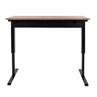 "Pneumatic Adjustable Height Standing Desk Size: 44.5"" H x 56"" W x 29.5"" D"