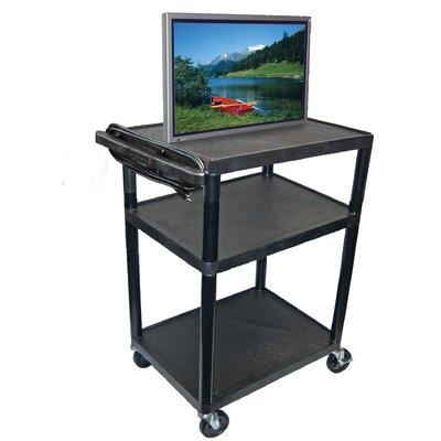 Luxor LP Carts High Low Priced Open Shelf Table AV Cart