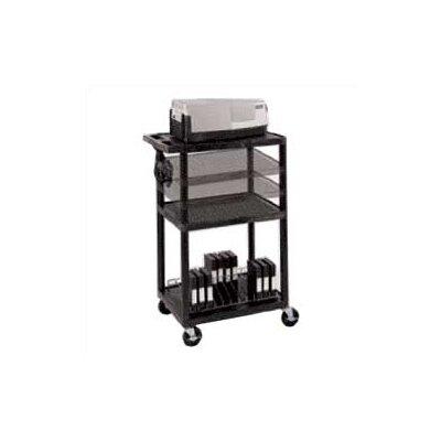 Luxor Open Shelf AV Cart