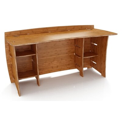 Sustainable Series Straight Writing Desk Finish: Carbonized Amber