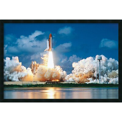 Amanti Art Space Shuttle Take-Off Framed Photographic Print