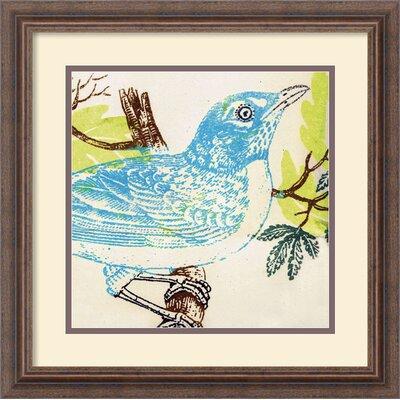 Amanti Art 'Bluebird' by Swan Papel Framed Painting Print
