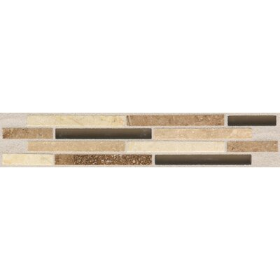 "American Olean Pozzalo 9"" x 2"" Universal Glazed Wall Accent Tile"