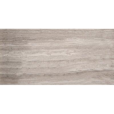 """Metro 4"""" x 10"""" Marble Wood Look Tile in Gray Vein Cut Honed"""