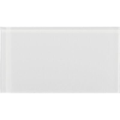 "Emser Tile Lucente 3"" x 6"" Glass Field Tile in Blanc"