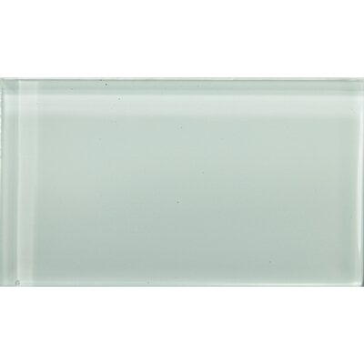 """Lucente 3"""" x 6"""" Glass Subway Tile in Crystalline"""