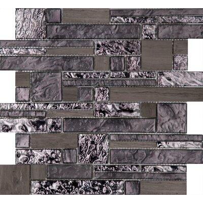 "Vista 12"" x 12"" Glass Stone Blend Pattern Mosaic Tile in Reach"