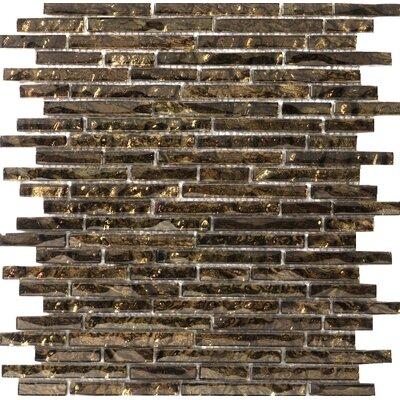 "Vista 12"" x 13"" Glass Linear Mosaic Tile in Signoretto"