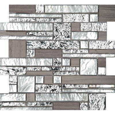 "Vista 12"" x 12"" Glass Stone Blend Pattern Mosaic Tile in Panorama"