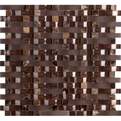 "Lucente 12"" x 13"" Glass Mosaic Tile in Satara"
