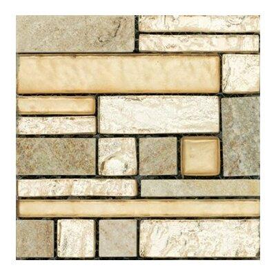 "Vista 12"" x 12"" Glass Stone Blend Pattern Mosaic Tile in Prospect"