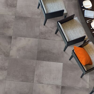 "Emser Tile Cosmopolitan 13"" x 3"" Surface Bullnose Tile Trim in Steel"
