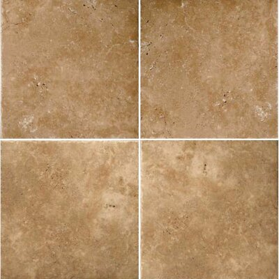 "Natural Stone Banded 48"" x 48"" Travertine Field Tile in Umbria Bruno"