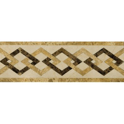 "Emser Tile Natural Stone 12"" x 4"" Polished Marble Pantheon Listello"