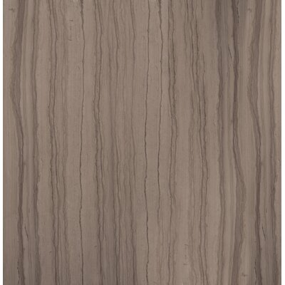 "Metro 13"" x 13"" Marble Wood Look Tile in Vein Cut Honed Taupe"