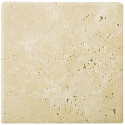 """Travertine 12"""" x 12"""" Field Tile in Ancient Tumbled Beige"""