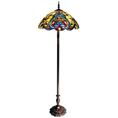 Victorian Double Lit 62 Quot Tiffany Floor Lamp Wayfair