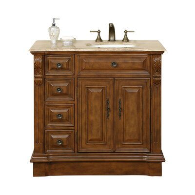 "Charlotte 38"" Single Bathroom Vanity Set Sink Location: Sink on the Right"