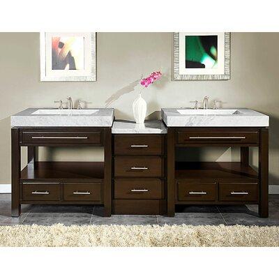 """Silkroad Exclusive Stanton 92"""" Double Bathroom Vanity Set"""