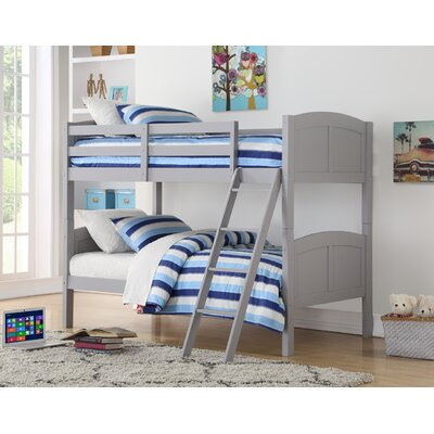 Romo Twin over Twin Bunk Bed Bed Frame Color: Gray