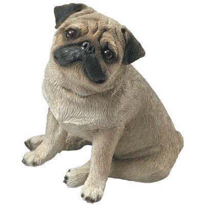 Sandicast Mid Size Sitting Pug Sculpture