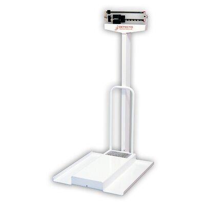 Mechanical Wheelchair Scale Capacity: 308.65 lb x 3.5 oz