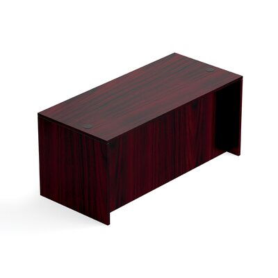 "Superior Laminate Desk Shell Size: 29.5"" H x 66"" W x 30"" D, Color: American Mahogany"