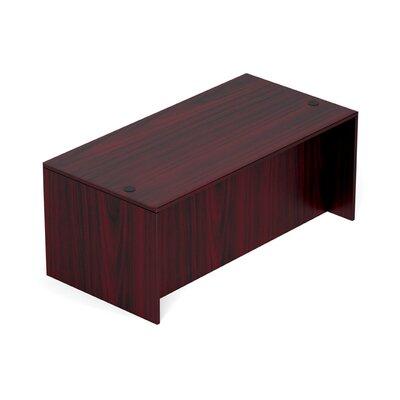 "Superior Laminate Desk Shell Size: 29.5"" H x 71"" W x 36"" D, Color: American Mahogany"