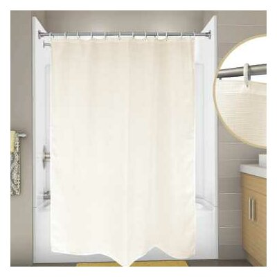 Cotton Premier Waffle Shower Curtain Color: Champagne