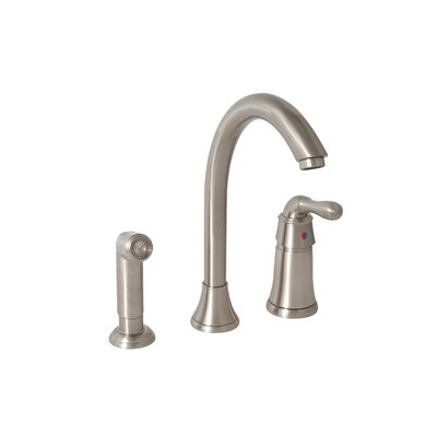 Premier Faucet Sanibel One Handle Widespread Kitchen Faucet with Matching Spray