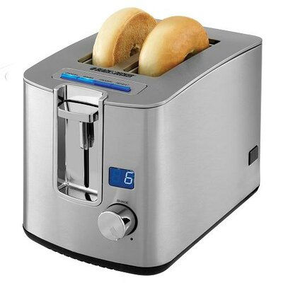 2 Slice Retractable Cord LED Display Toaster