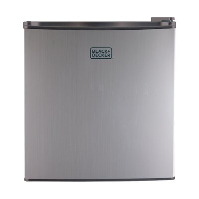 1.7 cu. ft. Compact Refrigerator with Freezer Color: Silver