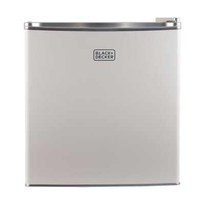 1.7 cu. ft. Compact Refrigerator with Freezer Color: White